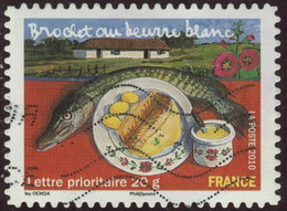 France 2010 Yv. N°AA440 - Brochet Au Beurre Blanc - Oblitéré - France