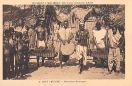 Afrique > Côte-d'Ivoire MUSICIENS BAMBARAS  (musique) Missions Africaines Lyon ( Mission Religion Lescuyer 2) - Côte-d'Ivoire