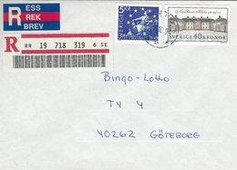 Sweden - Registered  Cover Used 1994.  H-1345 - Sweden