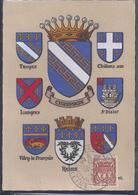 Carte Maximum Journée Du Timbre 1943 Reims Blason - Cartas Máxima