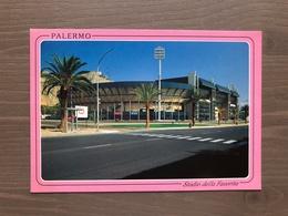 Cartolina Stadio Favorita Di Palermo Annullo Supercoppa Europea '96-'97 Juventus - Paris S. G. Del 5-2-1997 - Calcio