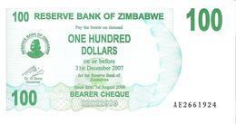 Zimbabwe - Pick 42 - 100 Dollars 2006 - Unc - Zimbabwe