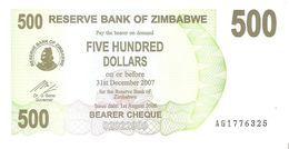 Zimbabwe - Pick 43 - 500 Dollars 2006 - Unc - Zimbabwe
