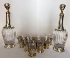 Service à Liqueur Cristal De BACCARAT Monture Argenterie - Glass & Crystal