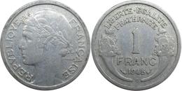 France - GPRF - 1 Franc 1945 C Morlon, Légère - H. 1 Franc