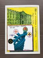 Cartolina 80° Anniversario Scoutismo In Campania Annullo Caserta 17-11-1991 - Movimiento Scout