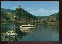 CPM Allemagne Blick Von Sehl Auf COCHEM Im Mosel Mit Burg Und MS Undine - Cochem
