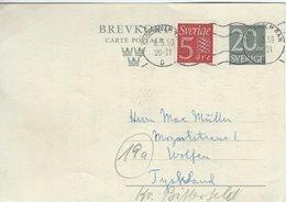 Sweden - Uprated Stationery Sent To Germany   1959   A-268 - Postal Stationery
