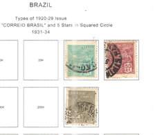 Brasile PO 1931/34 Em.Tipi 1920/29    Scott.330+331+335+See Scan On Scott.Page - Brasile