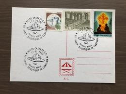 Cartoncino Retro Cartolina Annullo 80° Anniversario Scoutismo In Campania  Caserta 17-11-1991 - Scoutismo