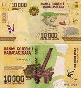 MADAGASCAR       10,000 Ariary       P-New      ND (2017)       UNC [ 10000 ] - Madagascar