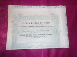 CHEMIN DE FER DU NORD De Paris A La Frontiere De Belgique (1852) - Azioni & Titoli