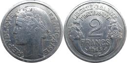 France - GPRF - 2 Francs 1945 B Morlon Aluminium - France