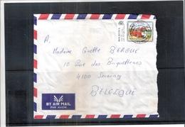 Lettre De Mauritius Vers Belgique  (à Voir) !! Lettre Déchirée !! - Maurice (1968-...)