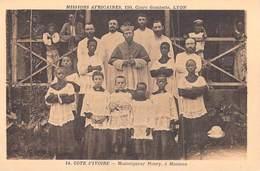 Afrique- Côte-d'Ivoire Monseigneur Moury à Moousso   -Missions Africaines Lyon ( Mission Religion Lescuyer 14) - Côte-d'Ivoire