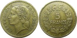 France - Troisième République - 5 Francs 1940 Lavrillier, Bronze-aluminium - France