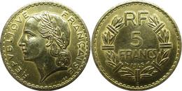 France - GPRF - 5 Francs 1945 C Lavrillier, Bronze-aluminium - France