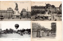 LOT 100 CPA PARIS - Petites Sélections - Animations - 100 - 499 Karten