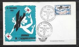 """Lettre  Illustrée Valenciennes Le 23/11/1968  Cachet Illustré """"Journée D El'Aérophilatélie """" Avec N° 1565    TB - Cachets Commémoratifs"""