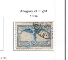 Brasile PO 1934 Allegoria Del Volo   Scott.386+See Scan On Scott.Page - Brasile
