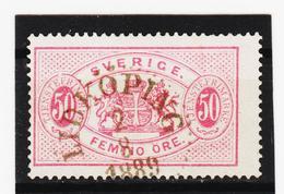 AUA999 SCHWEDEN 1874 Michl 10 B DIENST Gestempelt ZÄHNUNG SIEHE ABBILDUNG - Schweden