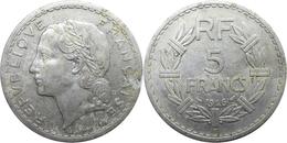 France - GPRF - 5 Francs 1946 C Lavrillier, Aluminium - J. 5 Francs