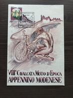 Cartolina Ufficiale VIII^ Cavalcata Moto D'Epoca Appennino Modenese Piandelagotti (MO) 21-6-1992 - Motociclismo
