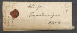 1635 Superbe Lettre De DIJON COTE-D'OR (20) TB. X2716 - Marcophilie (Lettres)