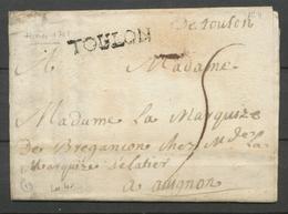 1751 Lettre Marque TOULON LENAIN N°4 + DeToulon Manus VAR(78) X2893 - Marcofilie (Brieven)