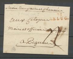 1796 Lettre Marque Linéaire 78 Le Luc VAR(78) Indice 14 X2322 - 1701-1800: Precursors XVIII