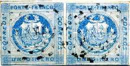 Pérou Peru 1860 Paire N° 6 Yvert & Tellier 1 Dinero - Pérou