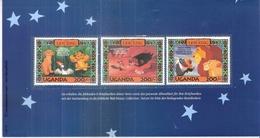 Disney - 3 Timbres (Uganda De 1994) Sur Le Roi Lion - XX/MNH (à Voir) - Disney