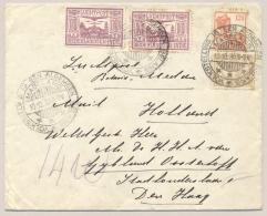 Nederlands Indië - 1930 - 4 Zegels Op Brief Met VOLKSTELLING / MAGELANG Naar Den Haag / NL - Nederlands-Indië