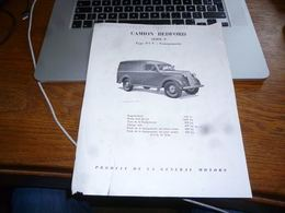 CB3F1 Rare Folder Commercial Camion Bedford Série P 1952 - Publicidad