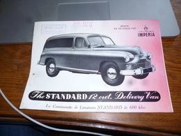 CB3F1 Rare Folder Commercial Camionnette Imperia - Publicidad