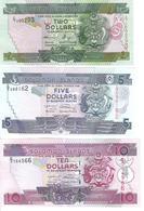 Solomon Islands - Pick 25, 26, 27 - 2, 5, 10 Dollars 2004 - 2009 - Unc - Set 3 Banknotes - Isola Salomon