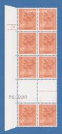 GREAT BRITAIN 1979 UNFOLDED GUTTER PAIRS CYLINDER BLOCK 10p.CHAMBON  2 BANDS  U.M.  S.G.S. U184  N.S.C. - Machins