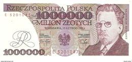 Poland - Pick 157 - 1.000.000 (1000000) Zlotych 1991 - AUnc - Polonia