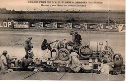 Sport : Automobile : Grand Prix De L'ACF 1908: Hemery Sur Benz Au Ravitaillement (en L'état) - Sport Automobile