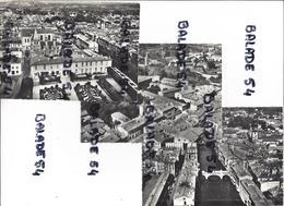 3 CPM - En AVION Au-dessus De CASTRES (81) Les Trois Ponts - Jardin De L'évêché, Mairie Et Cathédrale - ... Collège - Castres