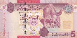 LIBYA 5 DINARS 2011 P-77 NEW UNC DE LA RUE PRINT */* - Libya