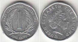 East Caribbean States 1 Cent 2002 Km#34 - Used - East Caribbean States