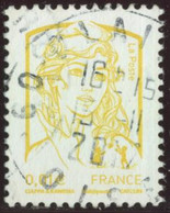 France 2013 Yv. N°4763 - 0,01€ Jaune - Oblitéré - 2013-... Marianne De Ciappa-Kawena