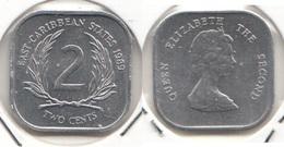 East Caribbean States 2 Cents 1989 Km#11 - Used - Caribe Oriental (Estados Del)