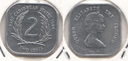 East Caribbean States 2 Cents 1994 Km#11 - Used - Caraibi Orientali (Stati Dei)