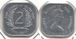 East Caribbean States 2 Cents 1996 Km#11 - Used - Caribe Oriental (Estados Del)