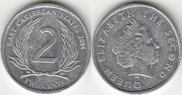East Caribbean States 2 Cents 2004 Km#35 - Used - East Caribbean States