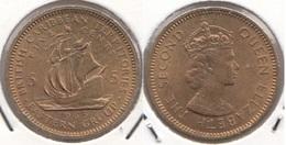 East Caribbean States 5 Cents 1965 Km#4 - Used - Caraibi Orientali (Stati Dei)