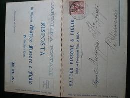 Brà Cuneo  Pubblicità Commerciale Cartolina Doppia Usata 1903 - Italia