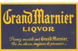 Buvard Grand Marnier LIQVOR Prenez Modèle Sur Grand-Marnier - Liquor & Beer